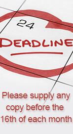 Copy Deadline